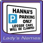 Persoalised Gift for Her Name| Parking Signs